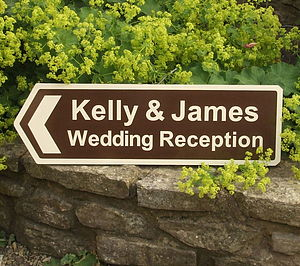 Personalised Wedding Reception Sign - our 50 favourite room decorations