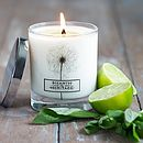 Basil And Lime Natural Wax Scented Candle
