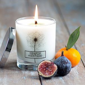 A Fig And Bergamot Natural Wax Scented Candle - lighting