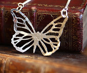 Handmade Silver Butterfly Necklace