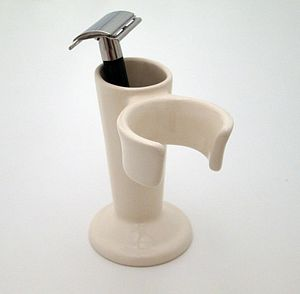 Ceramic Shaving Brush Stand And Razor Holder