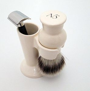 Shaving Brush Stand And Razor Holder