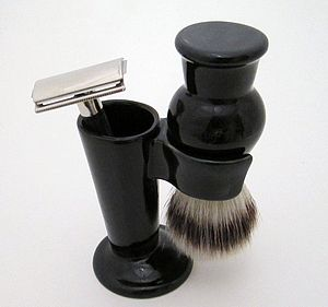 Shaving Brush Stand And Razor Holder - shaving
