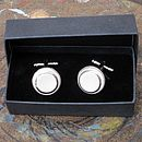 Cufflinks in gift box
