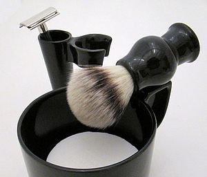 Ceramic Shaving Cup Gift Set - men's grooming