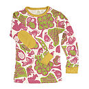 Long Sleeve Garden Print T Shirt