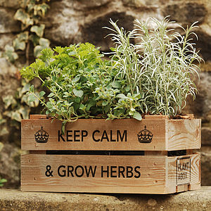 Keep Calm Herb Gift Crate