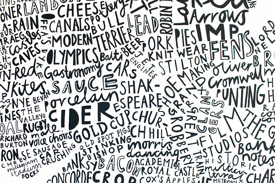 british isles word map print by alison hardcastle