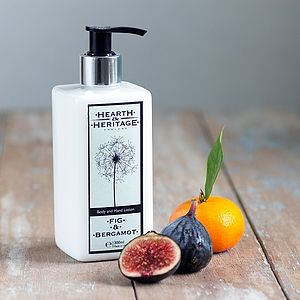 Fig And Bergamot Body And Hand Lotion - organic bath & body