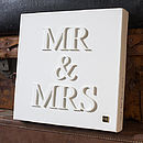 Personalised Little 'Mr & Mrs' Canvas