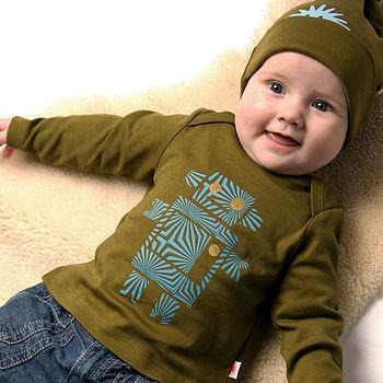 Robot Print Baby T Shirt