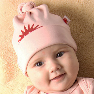 Organic Pink Knot Hat - gifts for babies