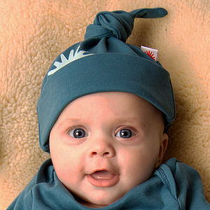 Organic Blue Knot Hat - children's accessories
