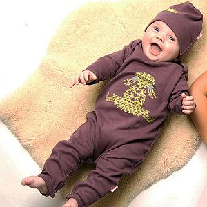 Organic Ragdoll Babygrow On Purple