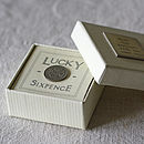 Lucky Sixpence In Gift Box