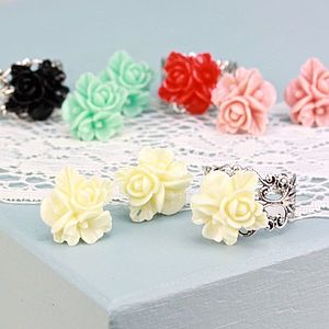 Orchid Filigree Ring And Earrings Set - rings