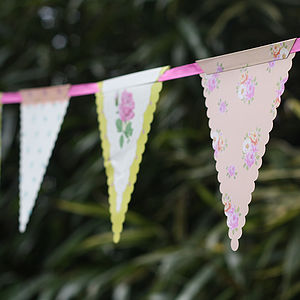 Country Garden Floral Bunting - outdoor decorations