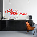 'Home Sweet Home' Wall Sticker