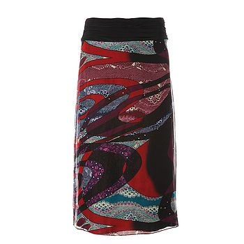 Kiku Silk Pencil Skirt