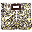 Stephanie Stained Glass Design Clutch Bag