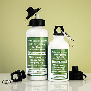 Personalised Emergency Liquid Flask