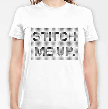 'Stitch Me Up' Cross Stitch T Shirt Kit