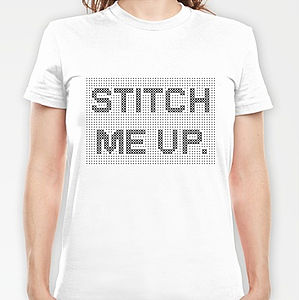 'Stitch Me Up' Cross Stitch T Shirt Kit - t-shirts