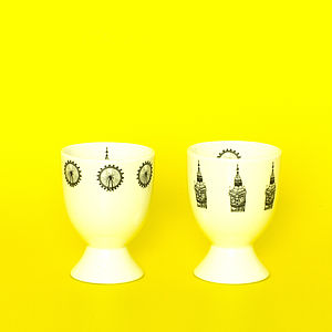 Big Ben And London Eye Egg Cups - egg cups & cosies