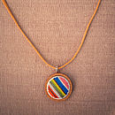 Hand Embroidered Stripy Necklace