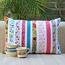 Candy Stripes Floral Cushion