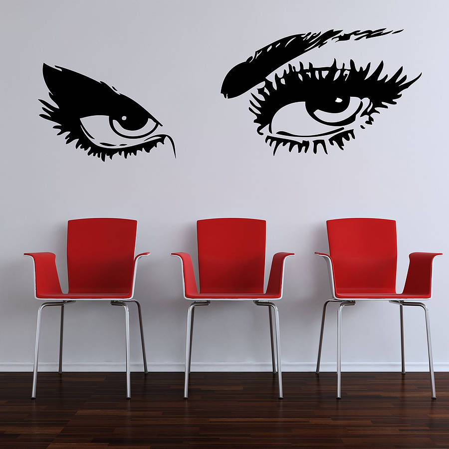 Eyes wall decal etsy custom wall stickers wall of photos eyes wall stickers by parkins interiors notonthehighstreetcom wall decals eyes amipublicfo Images