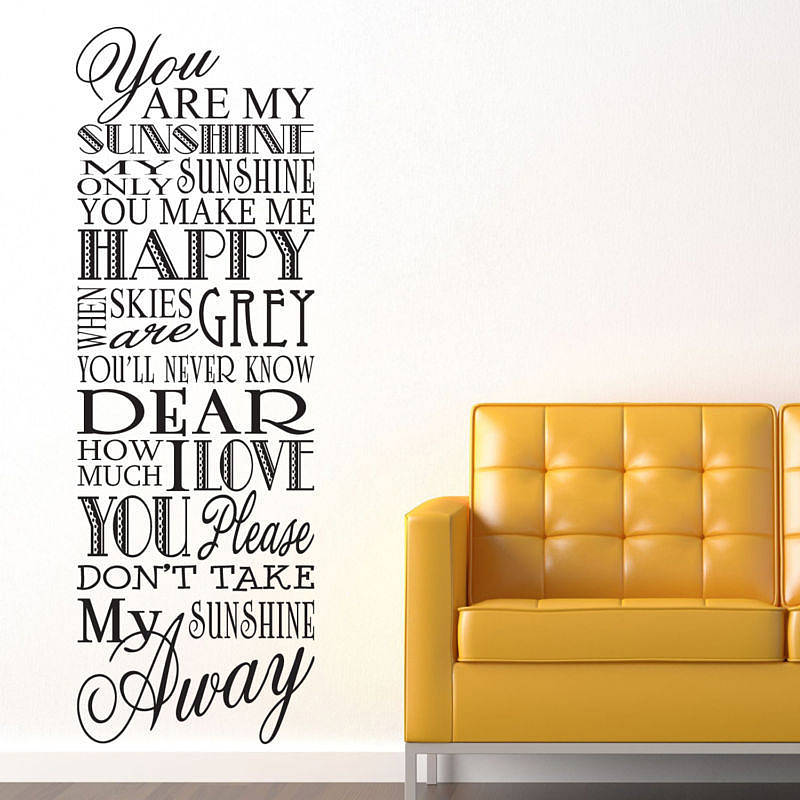 Charmant U0027You Are My Sunshineu0027 Wall Stickers · U0027