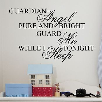 'Guardian Angel' Wall Stickers