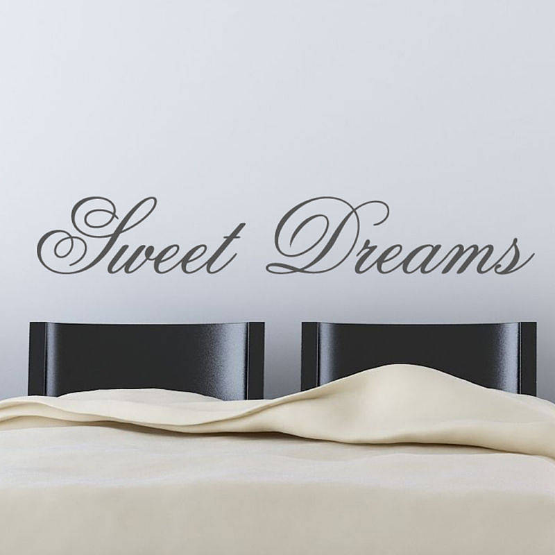 39 sweet dreams 39 wall stickers by parkins interiors. Black Bedroom Furniture Sets. Home Design Ideas
