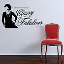 Coco Chanel Quote Wall Stickers