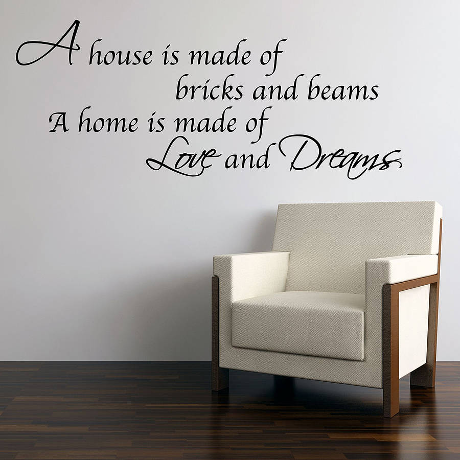 Love and dreams home wall stickers by parkins interiors love and dreams home wall stickers amipublicfo Choice Image