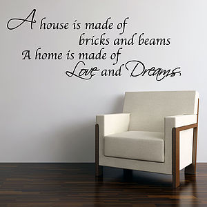 Love And Dreams Home Wall Stickers - office & study