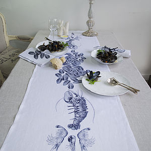 Mussels Fruits De La Mer Table Runner - home & garden