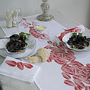 Mussels Fruits De La Mer Table Runner Orange