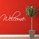 Welcome Wall Stickers