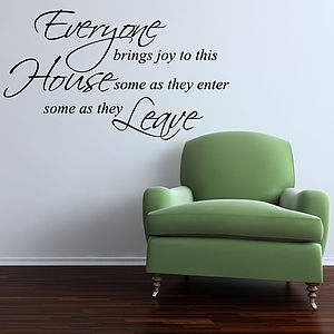 Everyone Brings Joy Quote Wall Stickers - wall stickers
