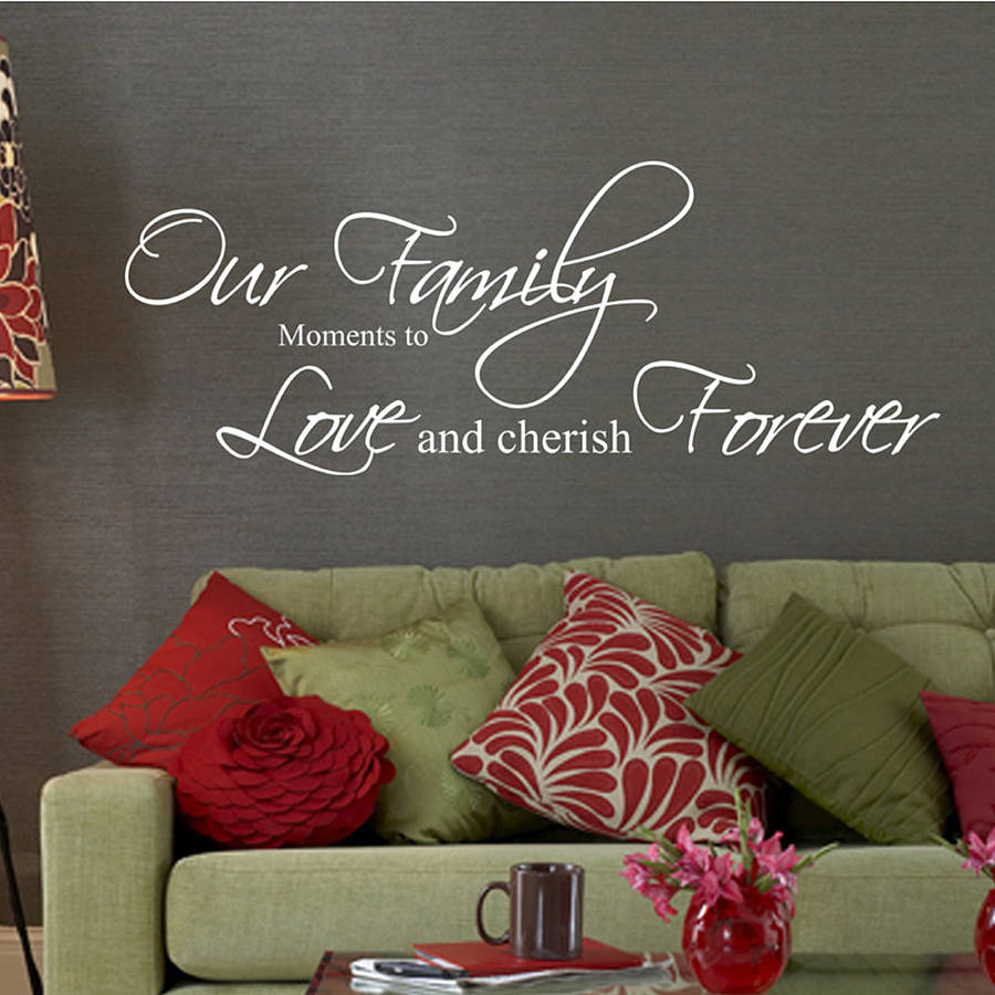 Our family moments quote wall stickers by parkins interiors our family moments quote wall stickers amipublicfo Gallery