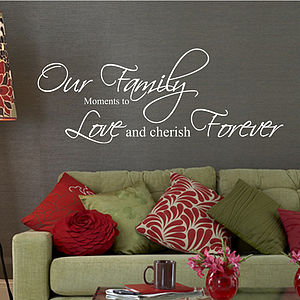 Our Family Moments Quote Wall Stickers - wall stickers