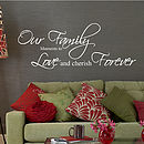 Our Family Moments Quote Wall Stickers