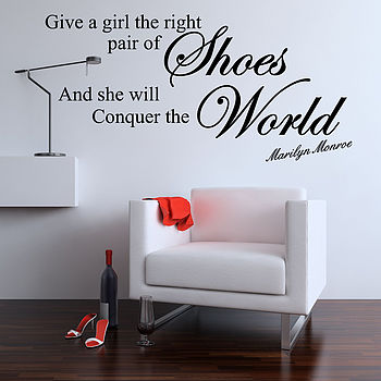 Give A Girl Quote Wall Stickers