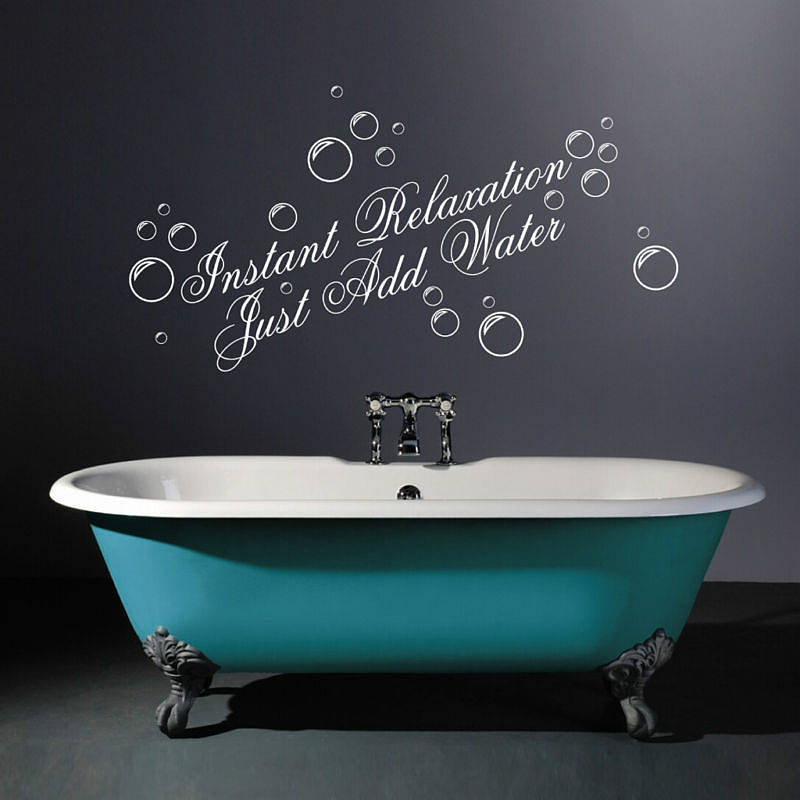 Instant relaxation wall quotes stickers by parkins for Bathroom wall decor quotes