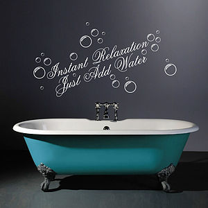 Instant Relaxation Wall Quotes Stickers