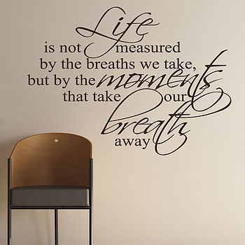 Breaths That We Take Quote Wall Stickers