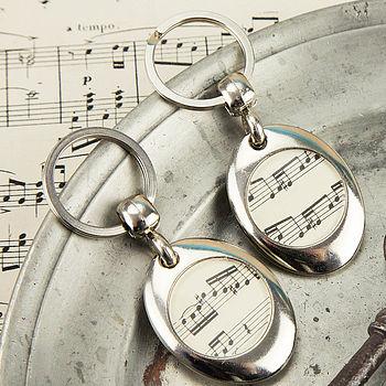 Music Score Sheet Keyring