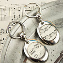 Music Score Sheet Keyring